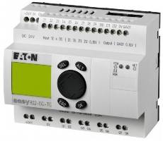 EATON EASY RELÉ EASY822-DC-TC 24VDC 12DI (4AI) 8DO 1AO 256275