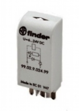FINDER MODUL 99.02.9.024.99 LED+OD+DPP,6-24VDC